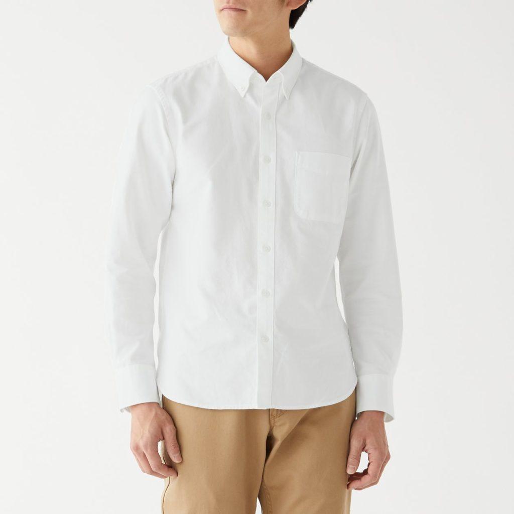 無印良品オックスボタンダウンシャツ