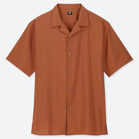 UNIQLOオープンカラーシャツ