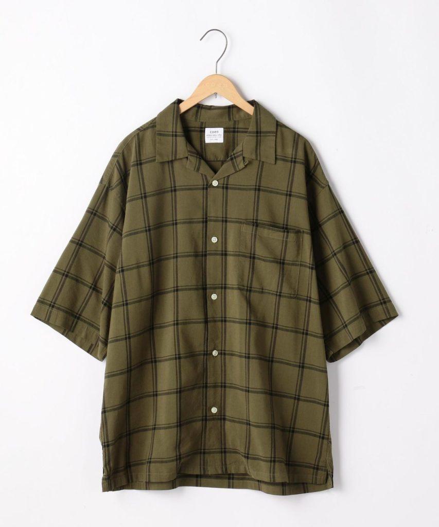 coenオープンカラーシャツ