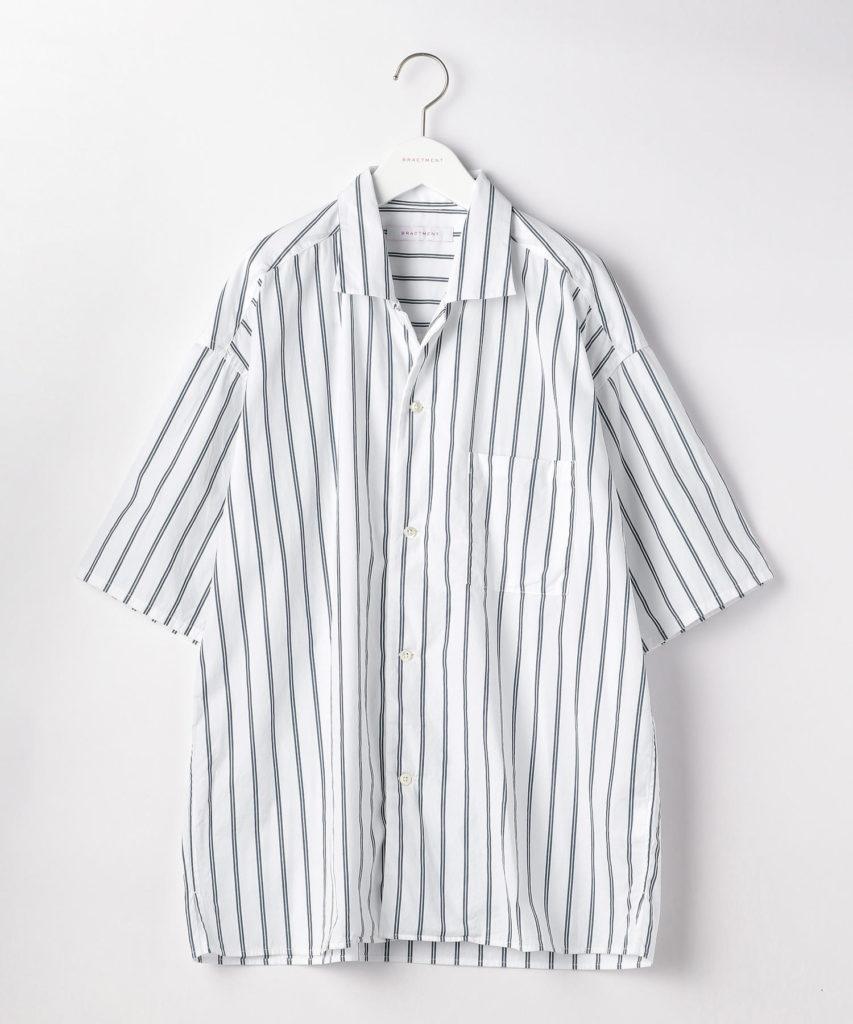 GLRストライプオープンカラーシャツ