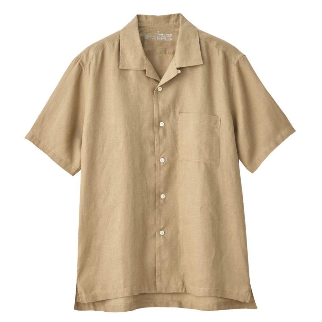 無印良品オープンカラーシャツ