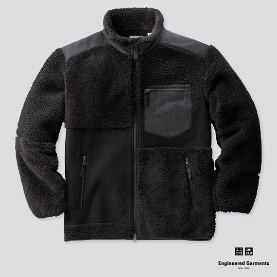 フリースコンビネーションジャケットブラック