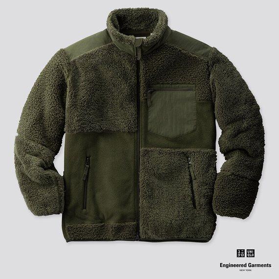 フリースコンビネーションジャケットオリーブ